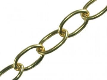 Oval Chain 1.8mm x 10m Polished Brass